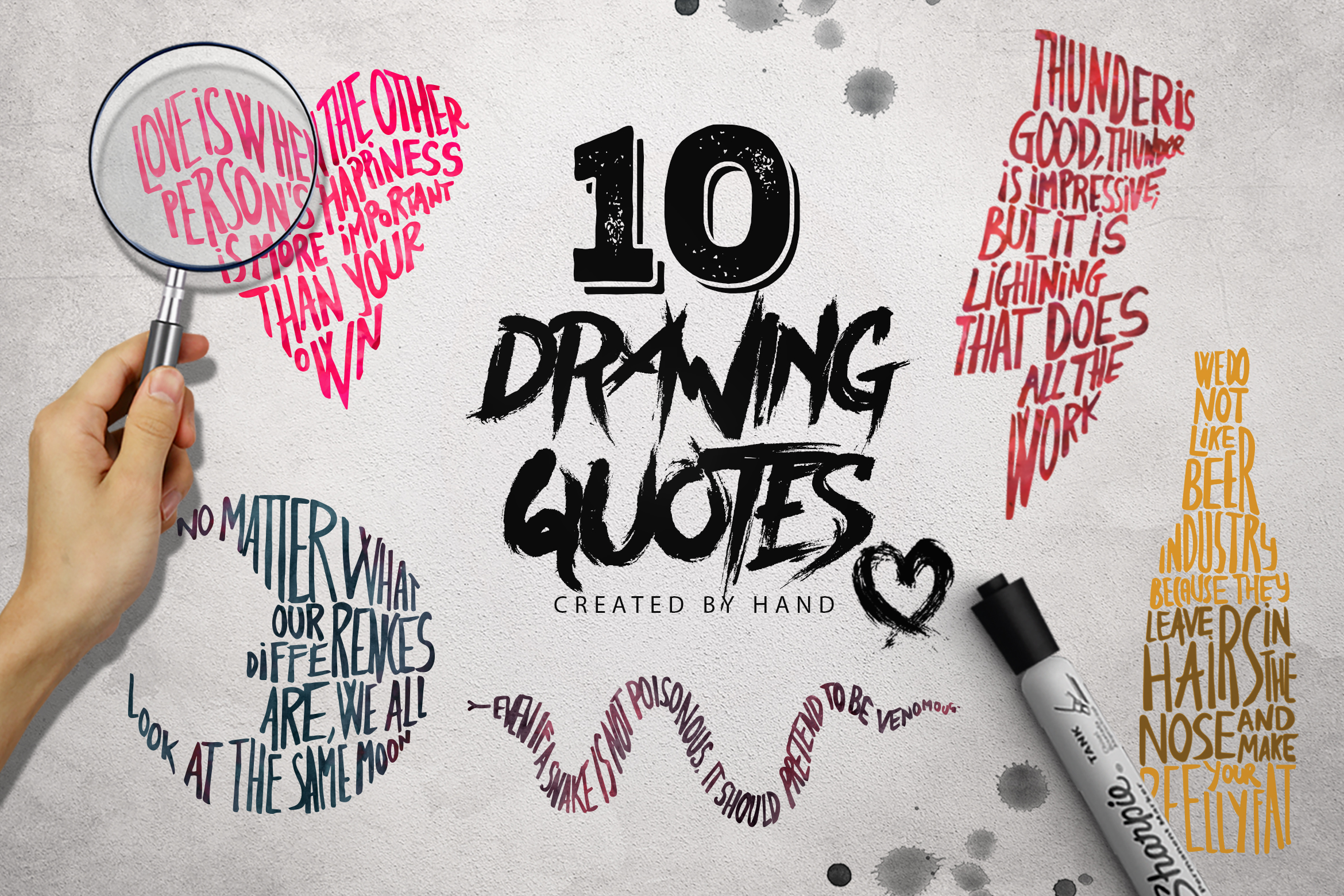 illustrations logos drawing quotes x