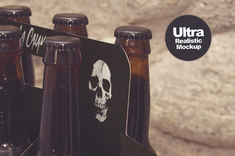 Mockups 6 Pack Beer Box Mockup