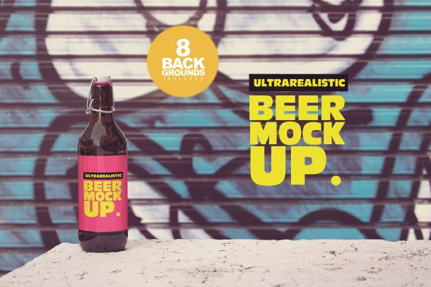 1 50cl Beer Mockup Background (2340)