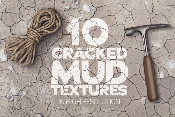 1 Cracked Mud Textures x10 (2340)