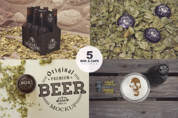 4 Essential Beer Mockups (2340x1450)